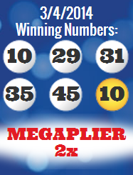 mega millions wining numbers tuesday 4th march