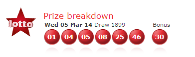 UK national lotto results wednesday 5th march