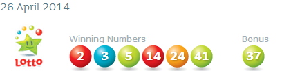 Irish National Lottery Results Saturday 26th April 2014
