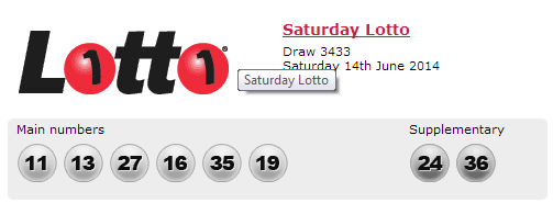 Australian Lottery Results Saturday