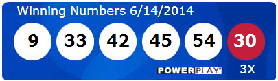 Powerball Lotto Results Saturday 14th June 2014