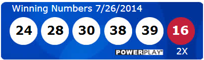 Powerball Lotto Results Saturday 26th July 2014