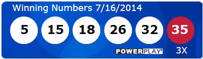 Powerball Lotto Results Wednesday 16th July 2014
