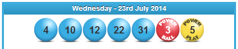 Powerball Lotto Results Wednesday 23rd July 2014