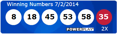 Powerball Lotto Winning Numbers Wednesday 2nd July 2014