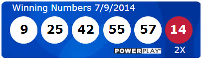 Powerball Lotto Winning Numbers Wednesday 9th July 2014