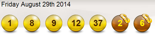 Eurojackpot Lotto Results Friday 29th August 2014