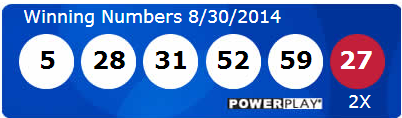 Powerball Lotto Results Saturday 30th August 2014