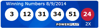 Powerball Lotto Results Saturday 9th August 2014