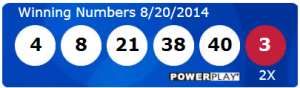 Powerball Lotto Results Wednesday 20th August 2014