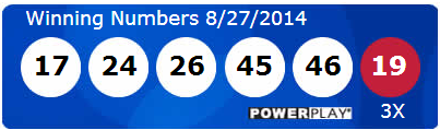 Powerball Lotto Results Wednesday 27th August 2014