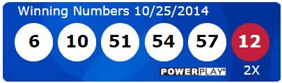 Powerball Lotto Results Saturday 25th October 2014