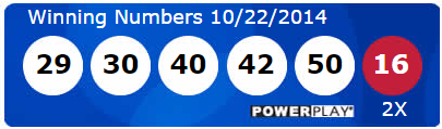 Powerball Lotto Results Wednesday 22nd October 2014