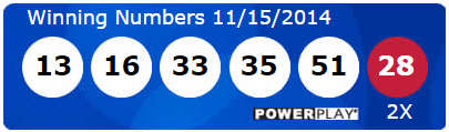 Powerball Lotto Results Saturday 15th November 2014