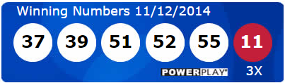 Powerball Lotto Results Wednesday 12th November 2014