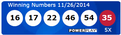 Powerball Lotto Results Wednesday 26th November 2014
