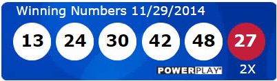 Powerball Lotto Results Saturday 29th November 2014