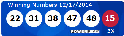 Powerball Winning Numbers Wednesday 17th December 2014