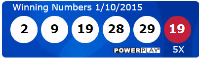 Powerball Lottery Results Saturday 10th January 2015