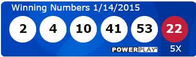 Powerball Lottery Results Wednesday 14th January 2015