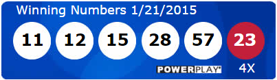 Powerball Lottery Results Wednesday 21st January 2015