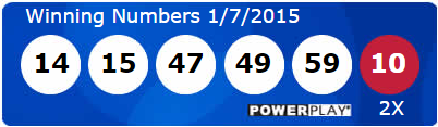 Powerball Lottery Results Wednesday 7th January 2015