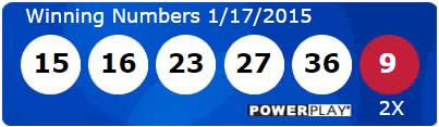 USA Powerball Lottery Results Saturday 17th January 2015