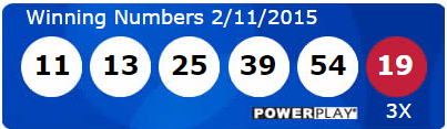 USA Powerball Lotto Results Wednesday 11th February 2015
