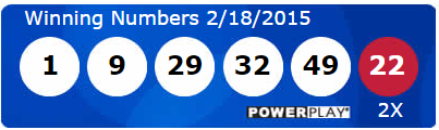 USA Powerball Lotto Results Wednesday 18th February 2015