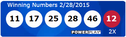 USA Powerball Lotto Results Saturday 28th February 2015