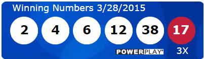 USA Powerball Lotto Results Saturday 28th March 2015