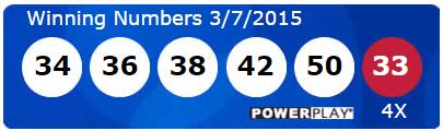USA Powerball Lotto Results Saturday 7th March 2015