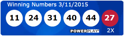 USA Powerball Lotto Results Wednesday 11th March 2015