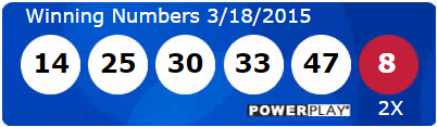 USA Powerball Lotto Results Wednesday 18th March 2015