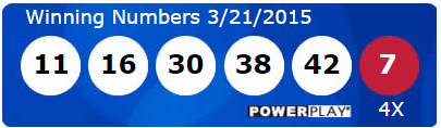 USA Powerball Results Saturday 21st March 2015