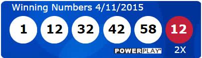 USA Powerball Lotto Results Saturday 11th April 2015