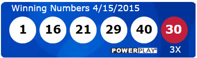 USA Powerball Lotto Results Wednesday 15th April 2015