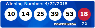 USA Powerball Lotto Results Wednesday 22nd April 2015
