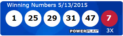 Powerball Lotto Winning Numbers Wednesday 13th May 2015