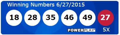 USA Powerball Lotto Results Saturday 27th June 2015