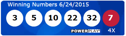 USA Powerball Lotto Results Wednesday 24th June 2015