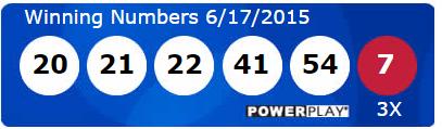 USA Powerball Lotto Winning Numbers Wednesday 17th June 2015