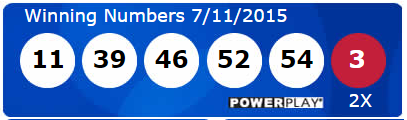 USA Powerball Lotto Results Saturday 11th July 2015