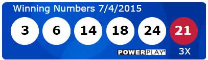 USA Powerball Lotto Results Saturday 4th July 2015
