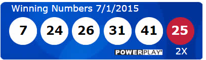 USA Powerball Lotto Results Wednesday 1st July 2015