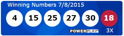 USA Powerball Lotto Results Wednesday 8th July 2015