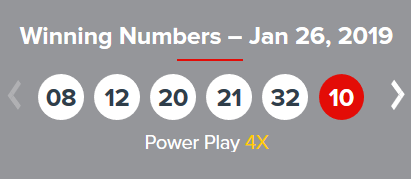 USA Powerball Lotto Results Saturday 26th January 2019
