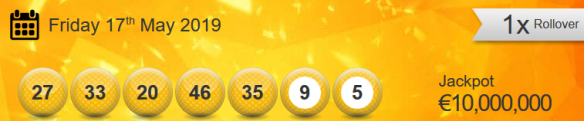 Eurojackpot Lotto Results Friday 17th May 2019